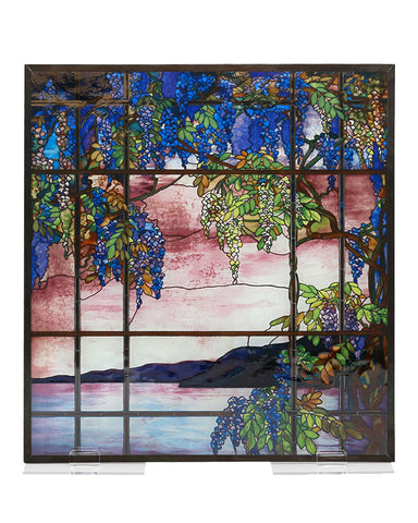 Tiffany Stained Glass Panel - View of Oyster Bay
