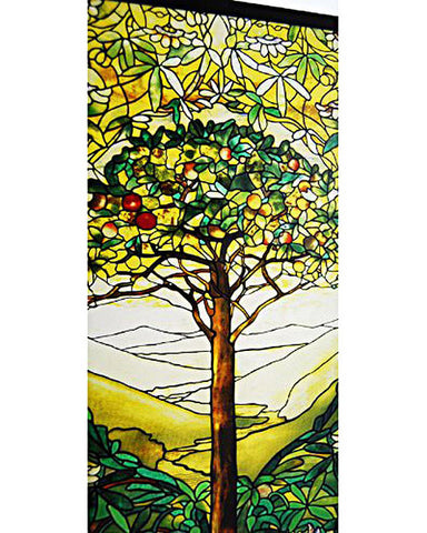 Tiffany Tree of Life Stained Glass Inset