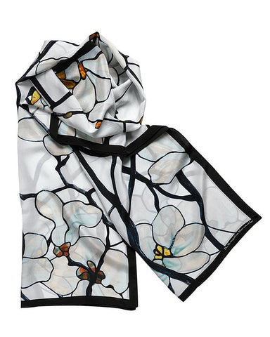 Louis C. Tiffany White Magnolia Scarf