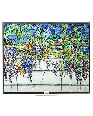 Tiffany Wisteria Stained Glass Panel