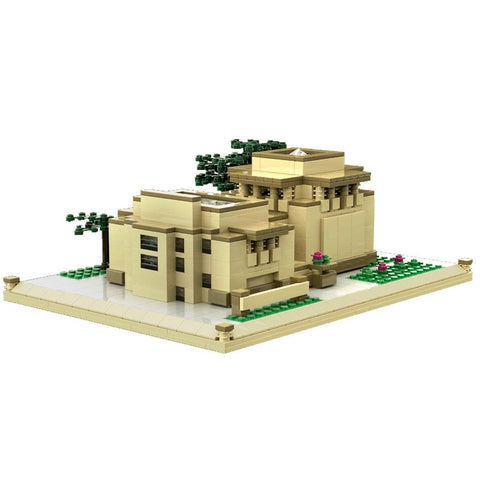 Frank Lloyd Wright Unity Temple Architecture Building Brick Set