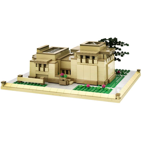 Frank Lloyd Wright Unity Temple Architecture Building Brick Set Main