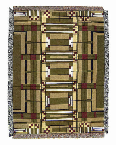 FLW Oak Park Tapestry Throw