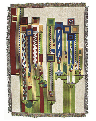 FLW Saguaro Tapestry Throw