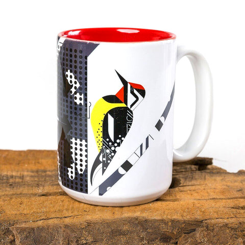 Charley Harper Yellow-Bellied Sapsucker Mug
