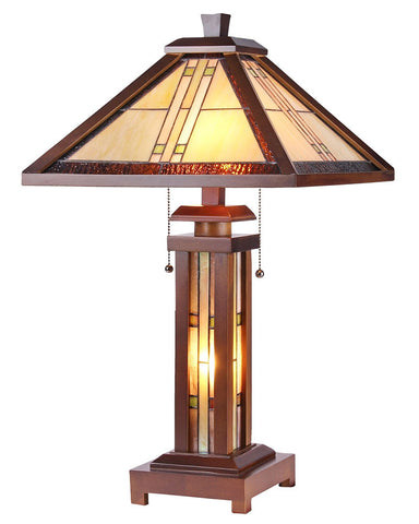 Arts & Crafts Earle Stained Glass Table Lamp