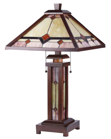 Arts & Crafts Kay Stained Glass Table Lamp 2