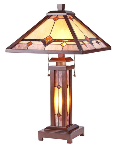 Arts & Crafts Kay Stained Glass Table Lamp