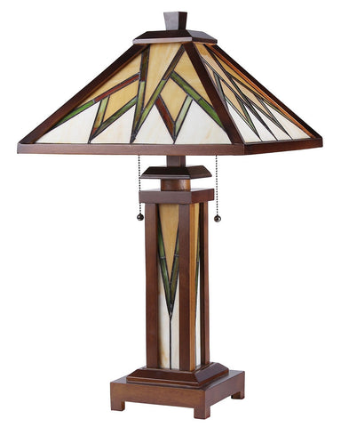Arts & Crafts Lamorak Stained Glass Table Lamp 2