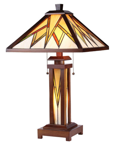 Arts & Crafts Lamorak Stained Glass Table Lamp