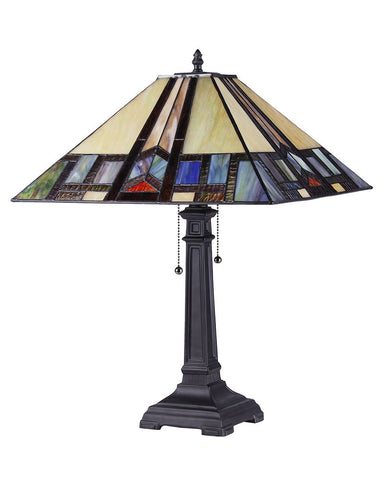 Arts & Crafts Gaheris Stained Glass Table Lamp 2