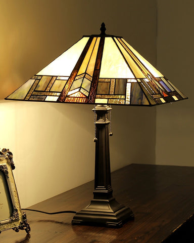 Arts & Crafts Gaheris Stained Glass Table Lamp display