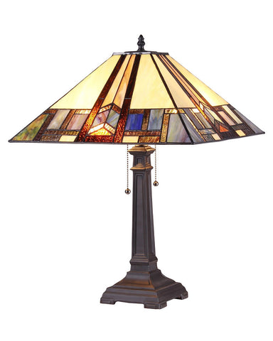 Arts & Crafts Gaheris Stained Glass Table Lamp