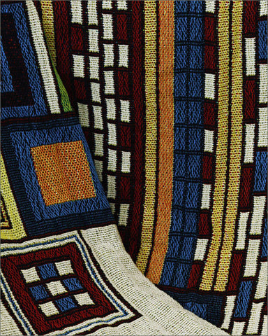 FLW Saguaro Tapestry Throw Inset