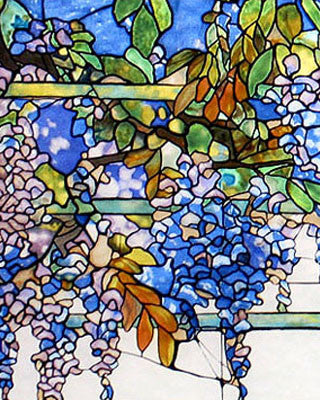 Tiffany Wisteria Stained Glass Close Up