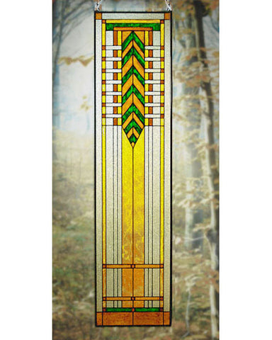 Tall Art Glass Panel 5