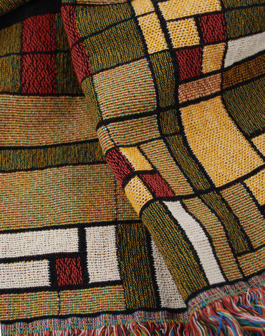 FLW Oak Park Tapestry Throw Inset
