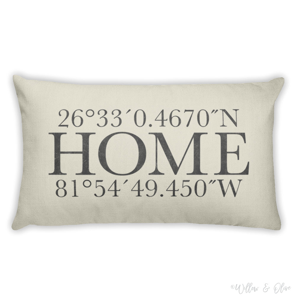 Decorative Lumbar Throw Pillow - Latitude & Longitude Home