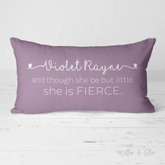 Decorative Lumbar Throw Pillow - Girls Name - She is Fierce