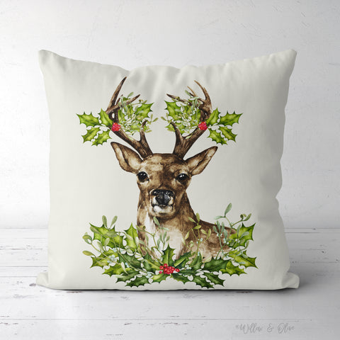 Decorative Square Throw Pillow - Christmas Deer