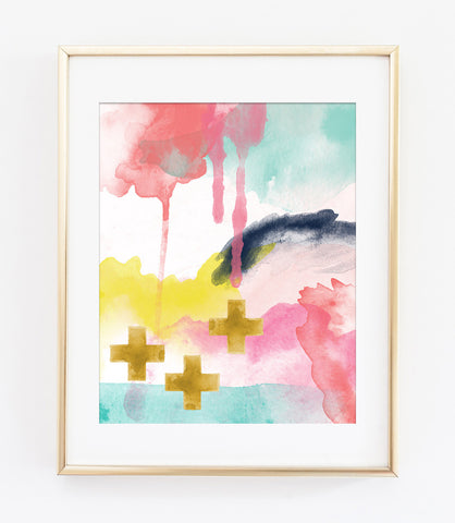 Modern Abstract Art Print 1 - Faith