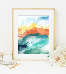 Modern Abstract Art Print 3 - High Tide