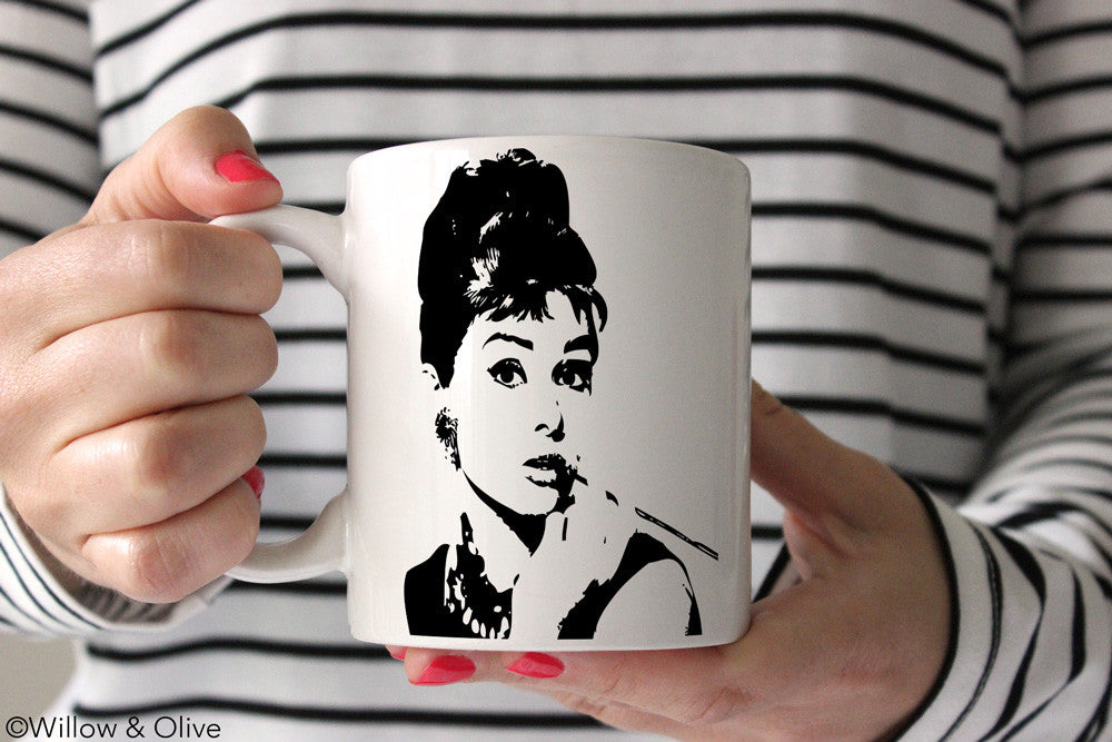 Audrey Hepburn Breakfast at Tiffany's Coffee Mug - P0001