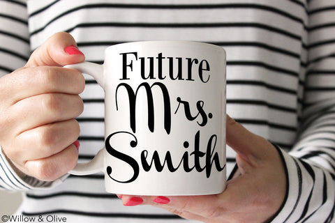 Future Mrs. Mug - Personalized Engagement Mug - W0001