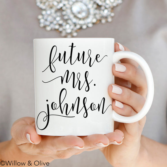 Future Mrs. Mug - Personalized Engagement Mug - W0013