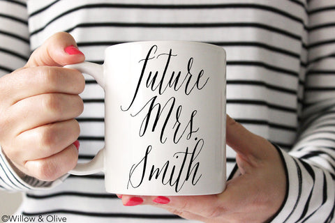 Future Mrs. Mug - Personalized Engagement Mug - W0003