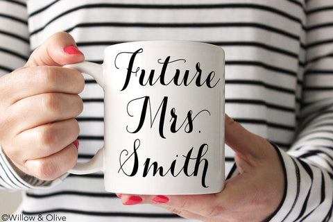 Future Mrs. Mug - Personalized Engagement Mug - W0005