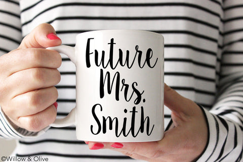Future Mrs. Mug - Personalized Engagement Mug - W0006