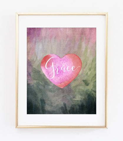 Grace Heart Art Print