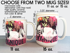 Personalized Nurse Name Mug - Floral Nurse Mug - N0004