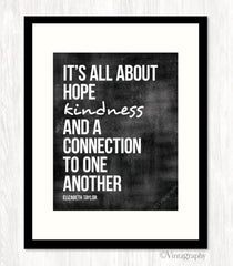 IT'S ALL ABOUT HOPE - Typography Art Print