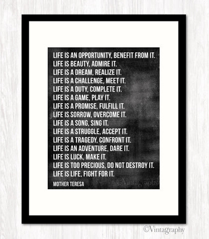 LIFE IS AN OPPORTUNITY - Typography Art Print
