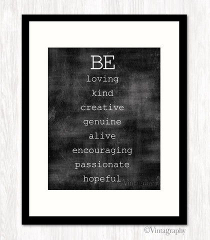 BE LOVING KIND HOPEFUL Art Print