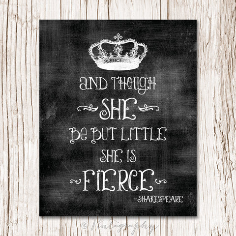 SHE IS FIERCE - Typography Art Print
