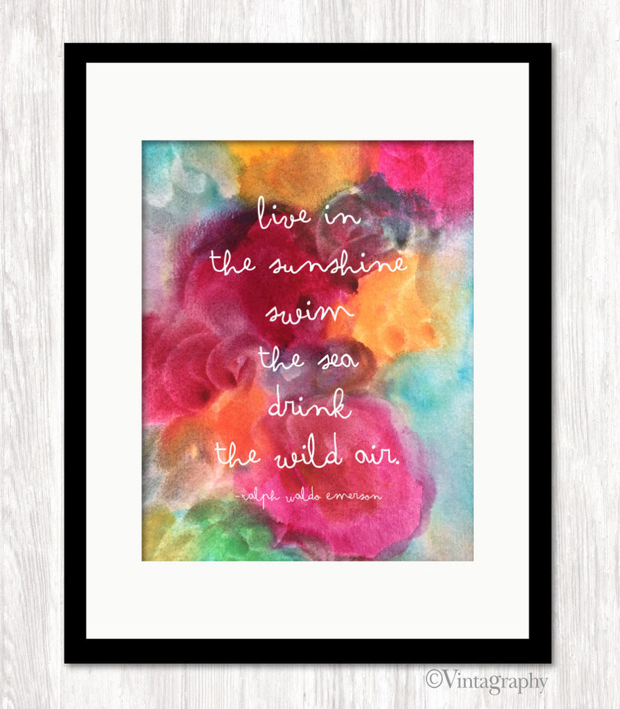 LIVE IN THE SUNSHINE #2 - Typography Art Print