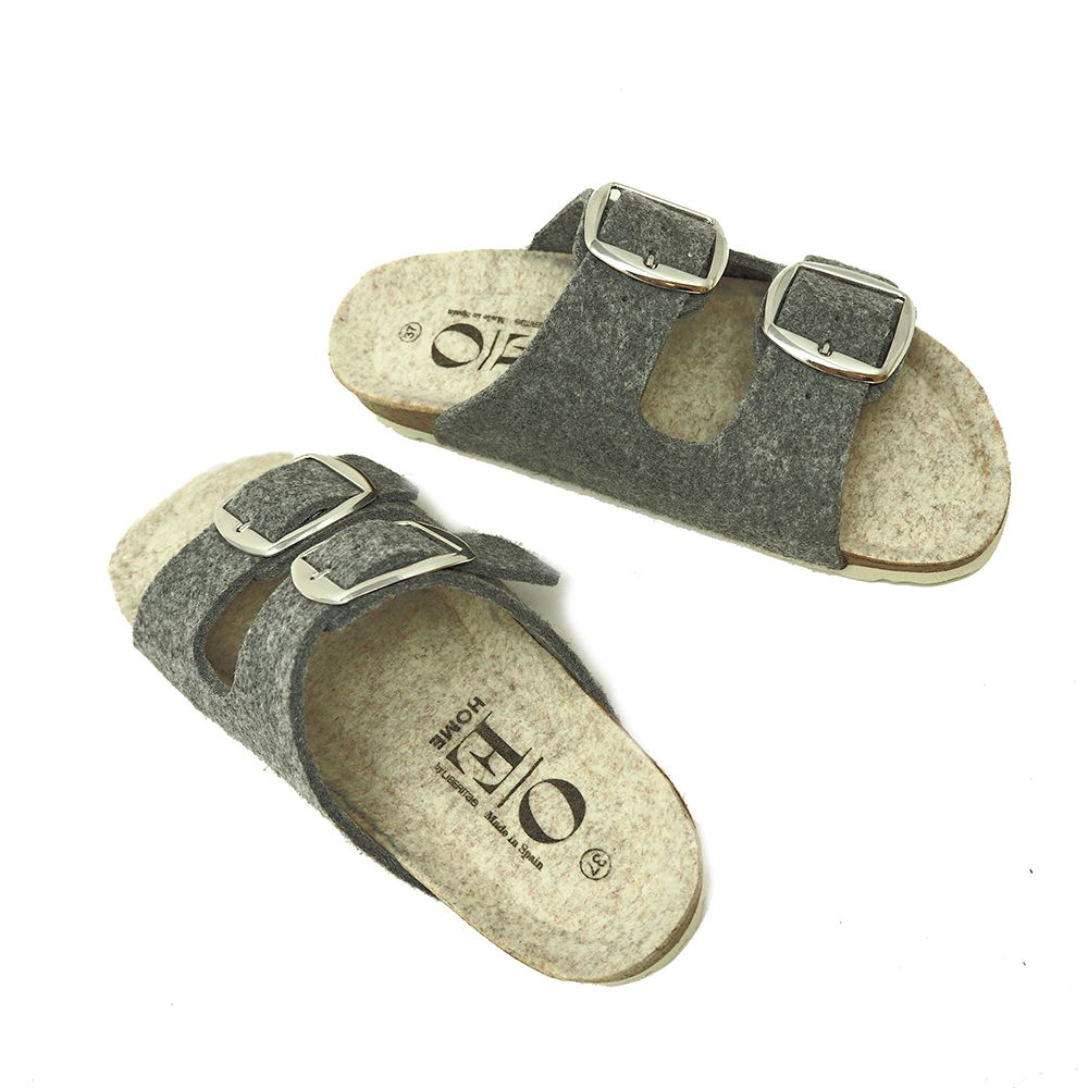 Sleepy house slippers in gray textile