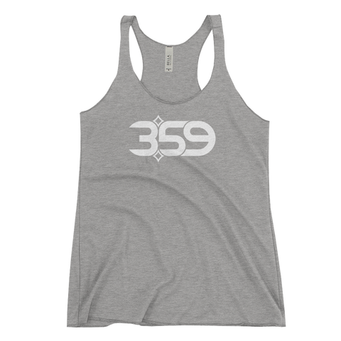 3:59 HEATHER Women's Triblend Racerback Tank