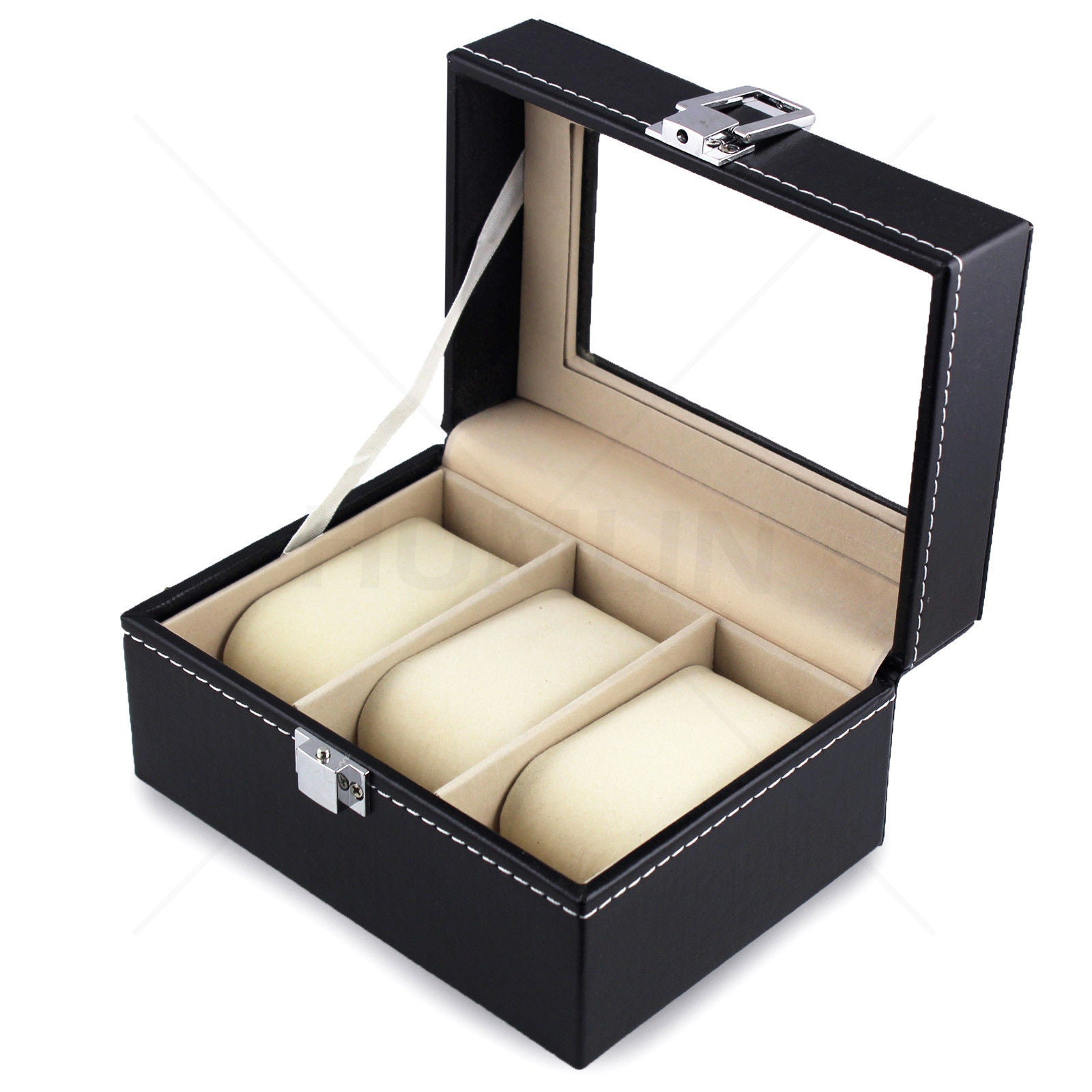 Deluxe Leather Watch Display Case