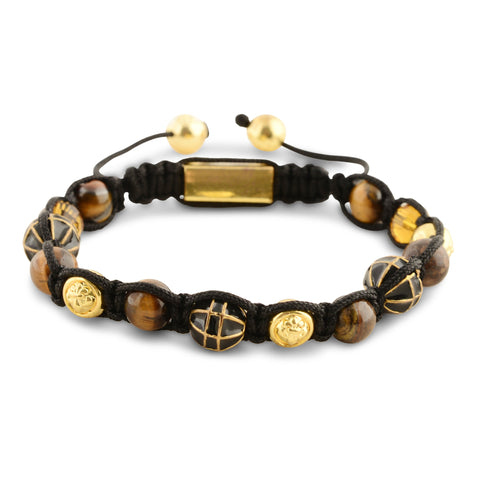 Signature Multi Precious Stone & Brown Tiger Eye Bracelet