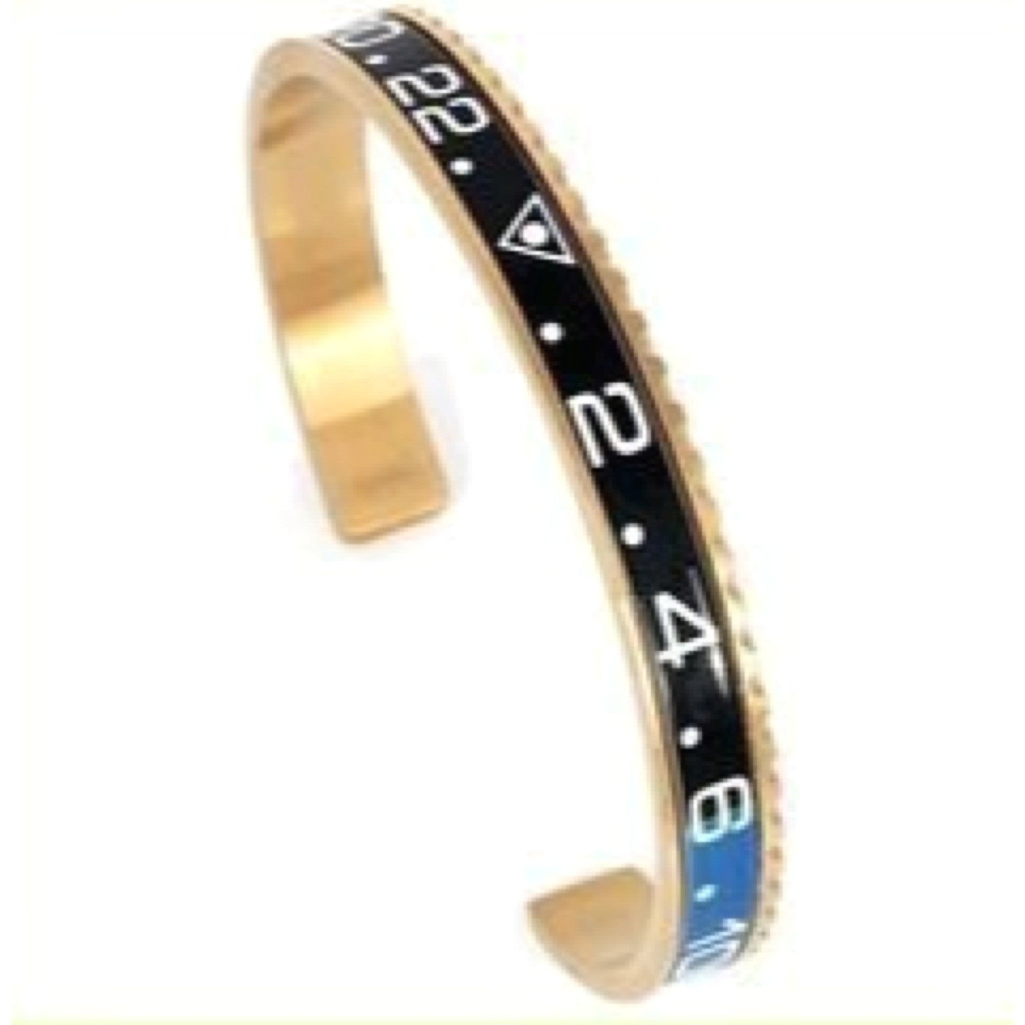 Black & Blue Gold Speedometer Bracelet