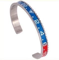 Blue & Red Silver Speedometer Bracelet