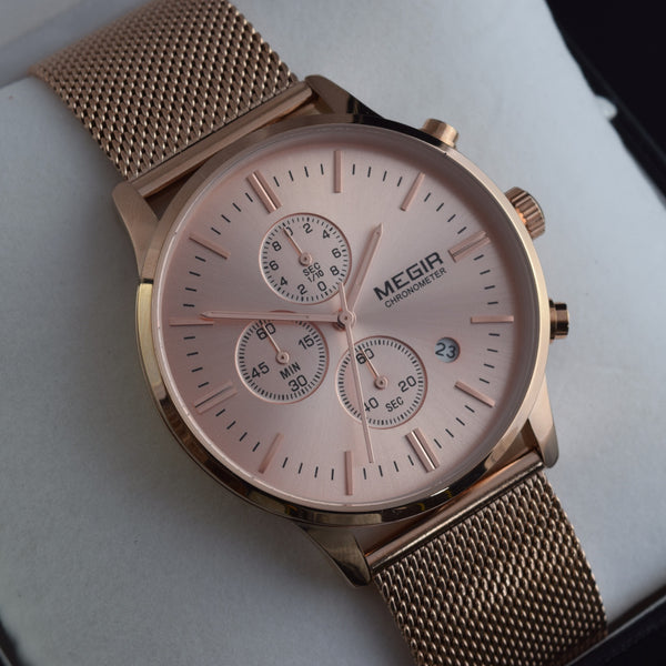 Liberty Rose Gold Chronograph Men's Watch