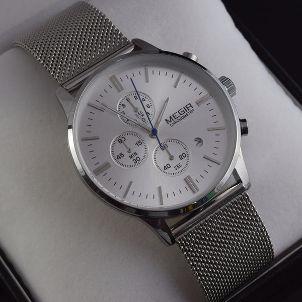 Liberty Silver Tone Chronograph Men's Watch