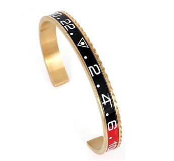Black & Red Gold Speedometer Bracelet