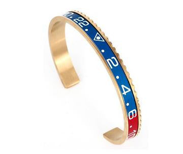 Blue & Red Gold Speedometer Bracelet