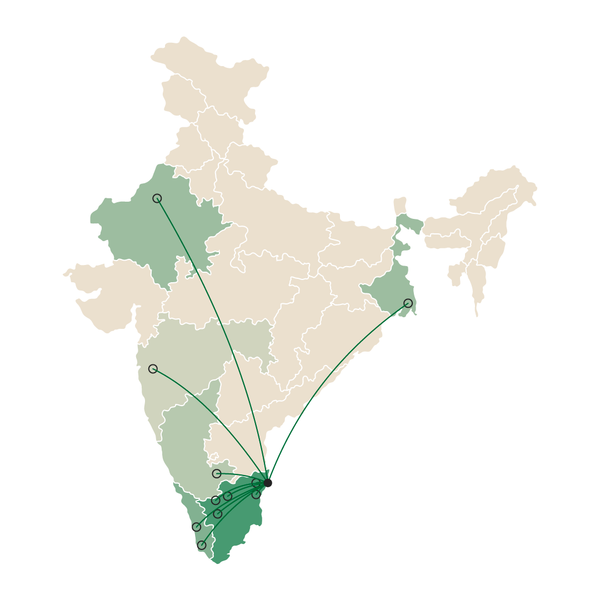 Places we shipped in our first month. India Map. rodanotes.com Roda Notes. Desk Notebook.